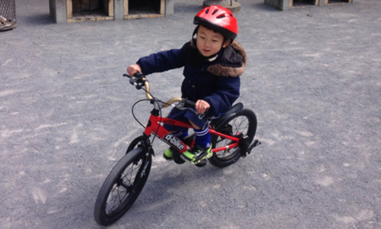 自転車選びからの補助なし自転車に再挑戦! ゆうくん(当時5才)