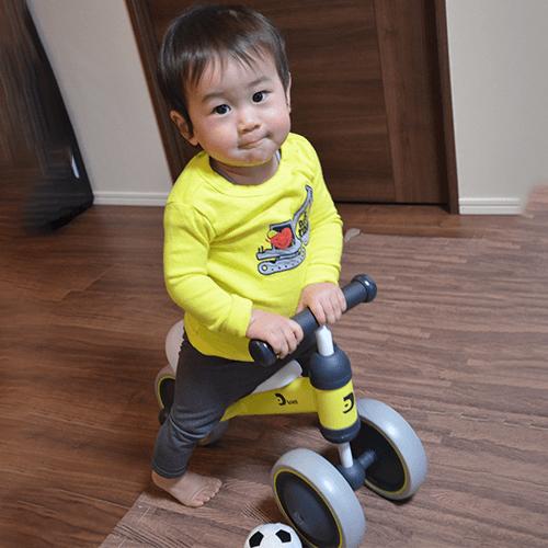 ディーバイクミニを乗りこなせるようになりました。