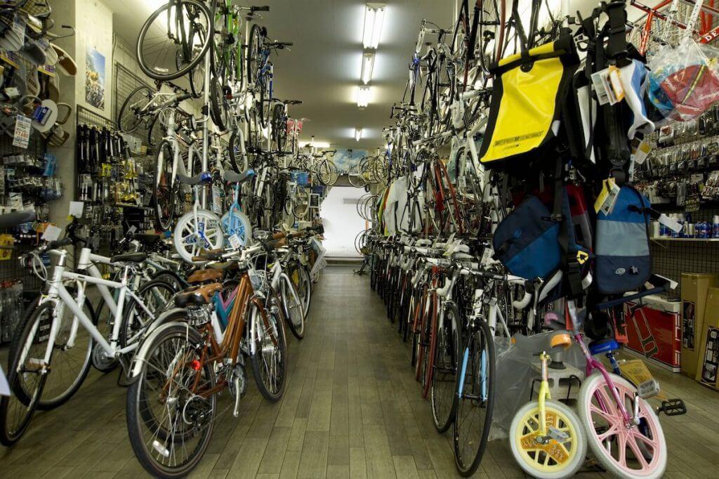 自転車を販売しているお店
