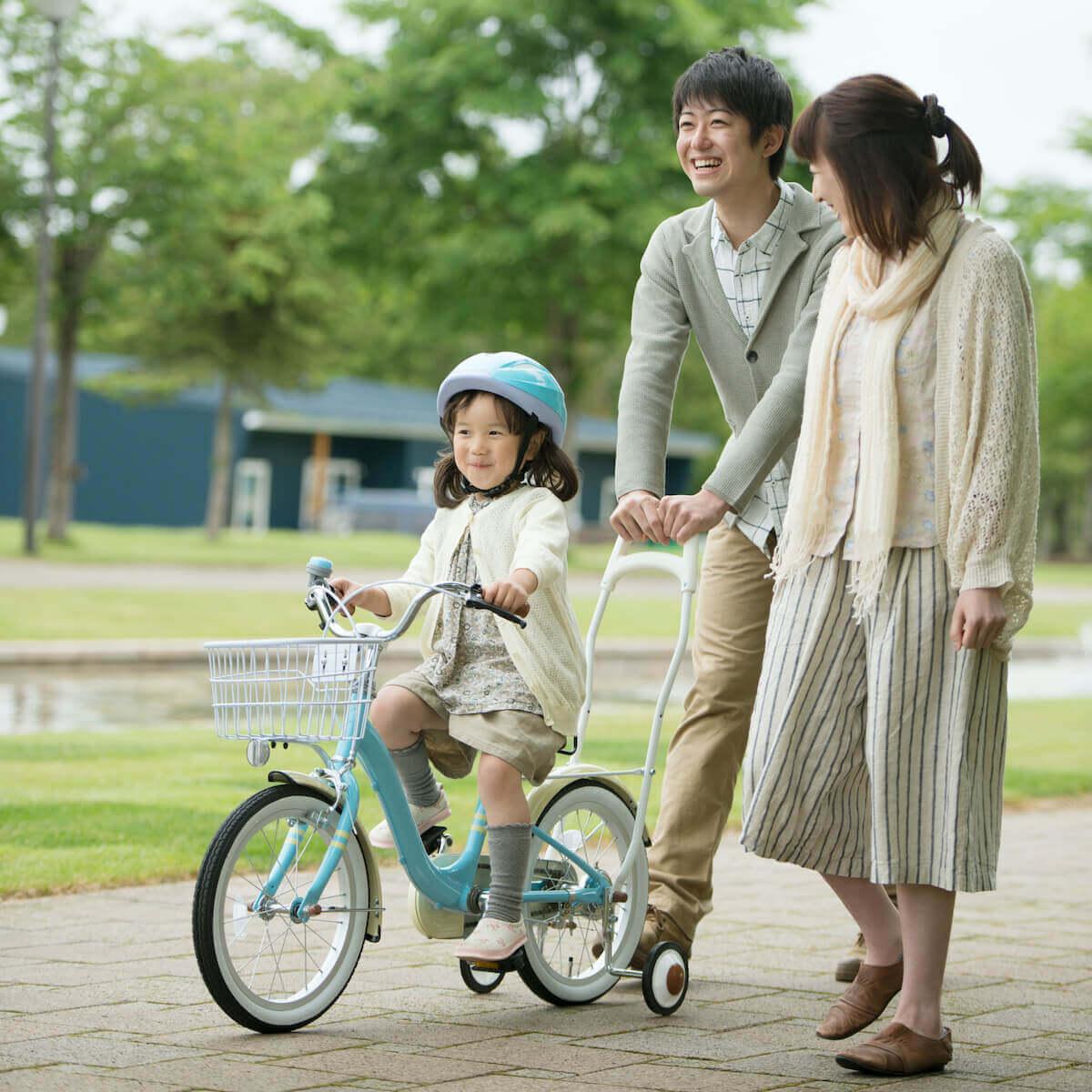 子どもと自転車にのる練習をしよう|5つのステップと早くのれるコツ4つ